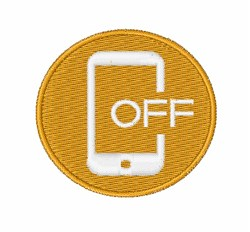 Turn Your Phone Off embroidery design