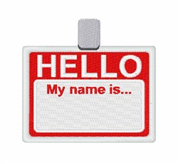 Name Badge embroidery design