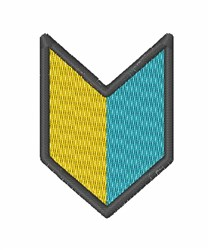 Beginner Badge embroidery design