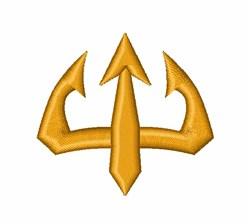 Trident Emblem embroidery design
