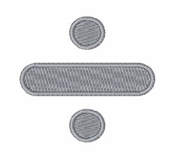 Division Symbol embroidery design