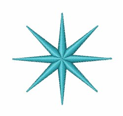 Blue Asterisk embroidery design