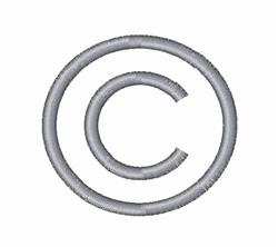 Copyright Symbol embroidery design
