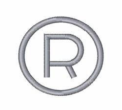 Registered Symbol embroidery design