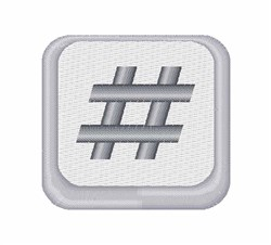 Hash Tag Symbol embroidery design