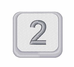 Number 2 Button embroidery design