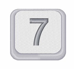 Number 7 Button embroidery design