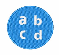 Lower Case ABCD embroidery design