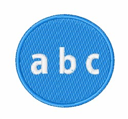 Lower Case ABC Button embroidery design