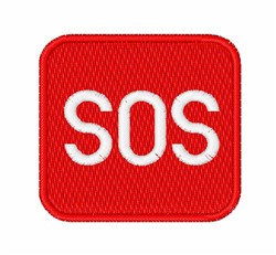 SOS Button embroidery design