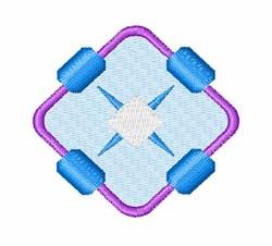 Diamond And Dot embroidery design
