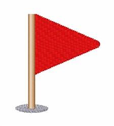 Triangle Flag embroidery design