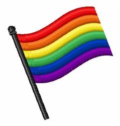 Rainbow Flag embroidery design