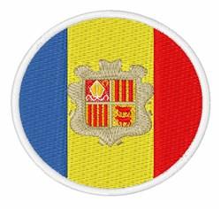 Andorra Flag embroidery design