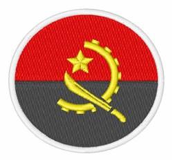 Angola Flag embroidery design