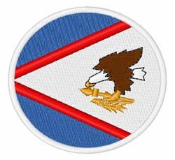 American Samoa Flag embroidery design