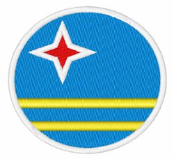 Aruba Flag embroidery design