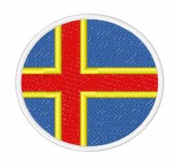 Aland Islands Flag embroidery design