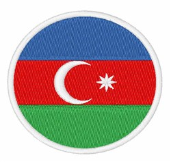 Azerbaijan Flag embroidery design