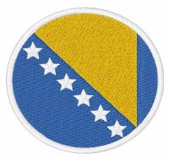 Bosnia & Herzegovina Flag embroidery design