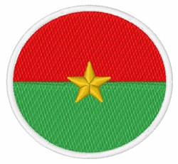 Burkina Faso Flag embroidery design