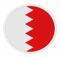 Bahrain Flag embroidery design