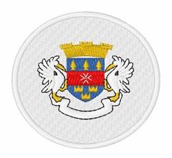 Saint Barthelemy Flag embroidery design