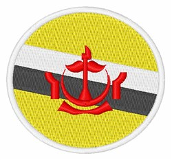 Brunei Flag embroidery design