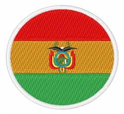 Bolivia Flag embroidery design