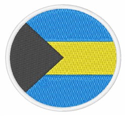 The Bahamas Flag embroidery design