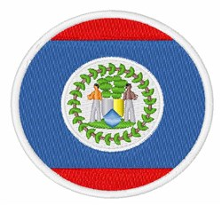 Belize Flag embroidery design