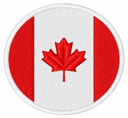 Canada Flag embroidery design