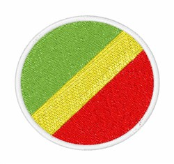 Republic of the Congo Flag embroidery design