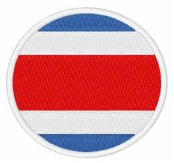 Costa Rica Flag embroidery design