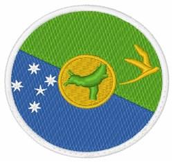 Christmas Island Flag embroidery design