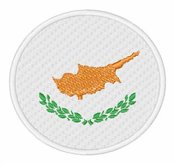Cyprus Flag embroidery design