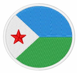 Djibouti Flag embroidery design