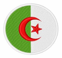 Algeria Flag embroidery design