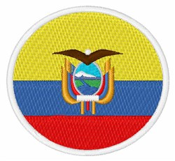 Ecuador Flag embroidery design
