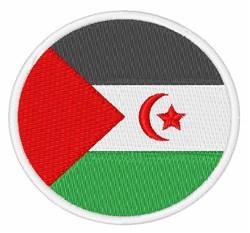 Western Sahara Flag embroidery design