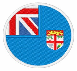 Fiji Flag embroidery design