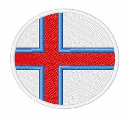 Faroe Islands Flag embroidery design