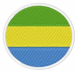Gabon Flag embroidery design