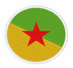 French Guiana Flag embroidery design