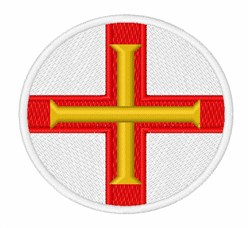 Guernsey Flag embroidery design