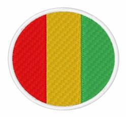 Guinea Flag embroidery design