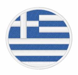 Greece Flag embroidery design