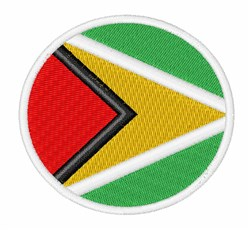 Guyana Flag embroidery design