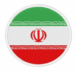 Iran Flag embroidery design