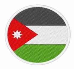 Jordan Flag embroidery design